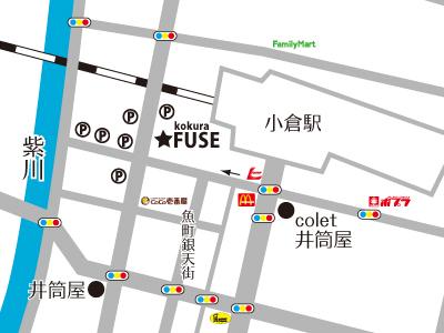 FUSEまでの地図